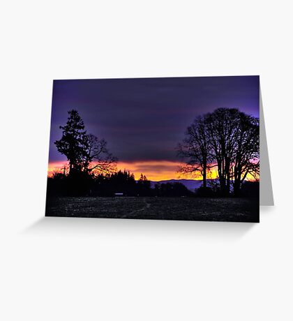 Sunrise in Dallas Oregon Greeting Card