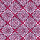Intricate royal swirl pattern  by Virginia Skinner