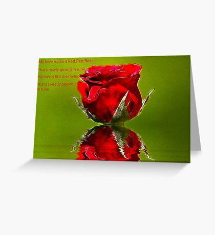Red Red Rose #2 Greeting Card