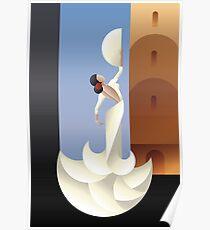 Art Deco styled Spanish Flamenco dancer Poster