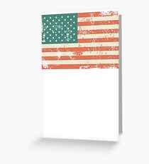 Grungy US flag Greeting Card