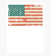 Grungy US flag Photographic Print