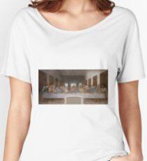 Camiseta ancha para mujer La última cena de Leonardo da Vinci
