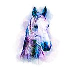 «Arte del caballo de la acuarela, impresión del caballo de la acuarela» de RomanDigitalArt