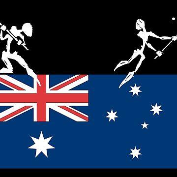 Lacrosse Australia Australian Lacrosse by SportsT-Shirts