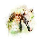 «Pintura de la acuarela del caballo, caballo de la acuarela, arte del caballo, retrato del caballo» de RomanDigitalArt