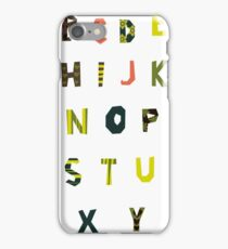english alphabet iPhone Case/Skin