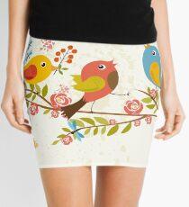Delicate Birds Mini Skirt