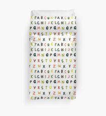 english alphabet Duvet Cover