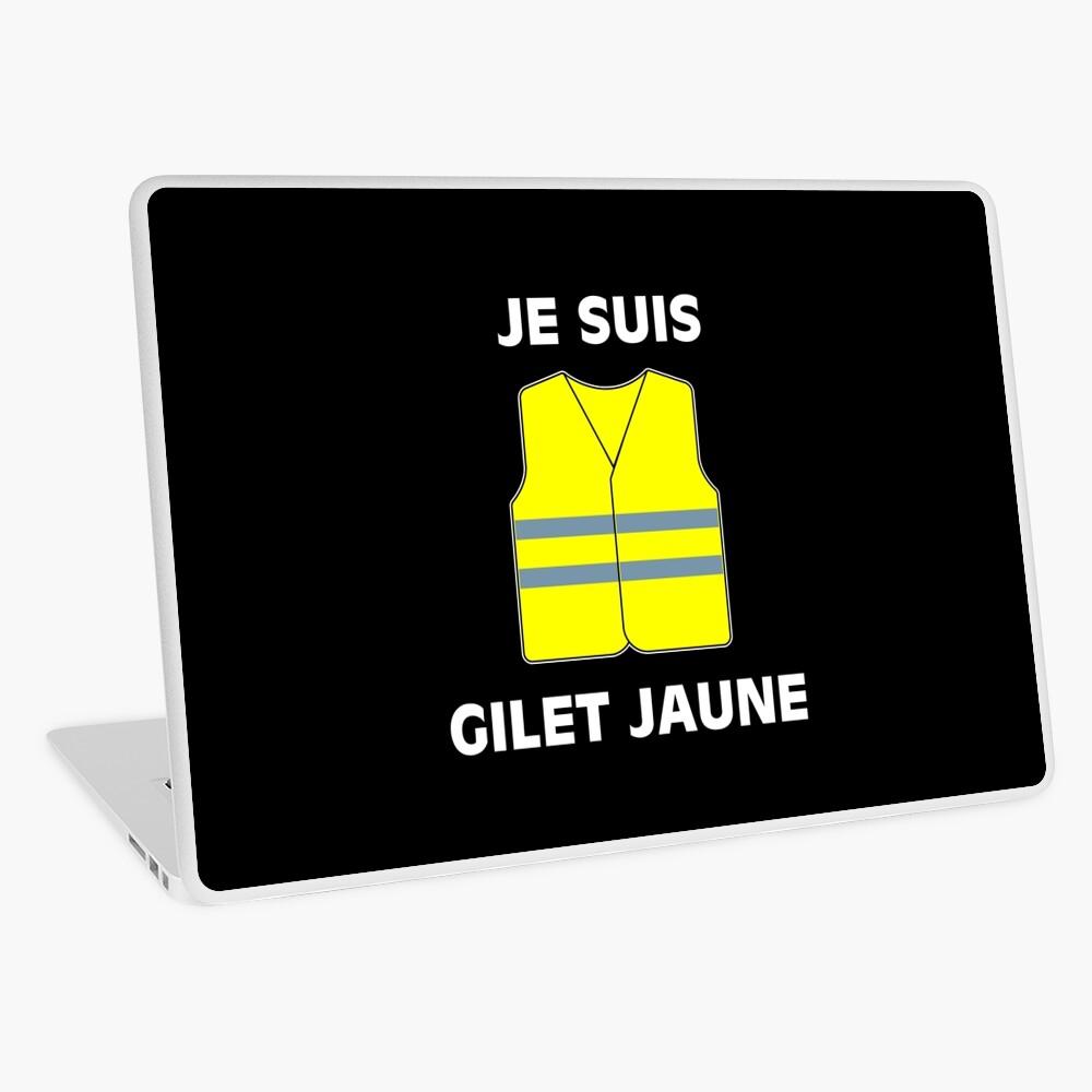 Muestra tu apoyo a los chalecos amarillos. $ 2 por artículo serán donados a las víctimas de las protestas. Vinilo para portátil