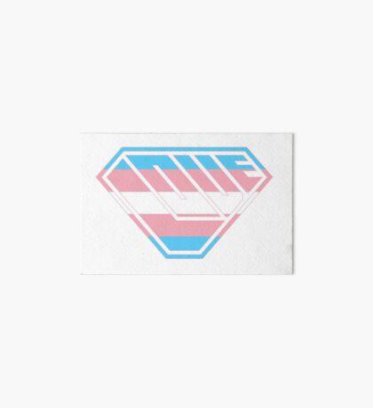 Love SuperEmpowered (Blue, Pink & White) Art Board