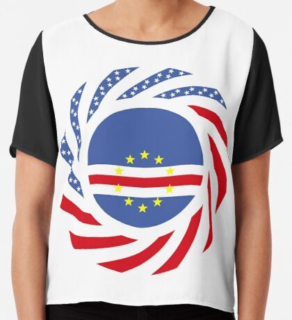 Cape Verdean American Multinational Patriot Flag Series 1.0 Chiffon Top