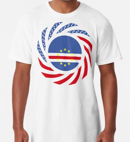 Cape Verdean American Multinational Patriot Flag Series 1.0 Long T-Shirt