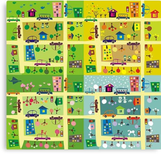 street during 4 seasons by Anastasiia Kucherenko