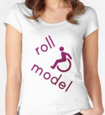 Roll Model - Disability Tees - in purple Women's Fitted Scoop T-Shirt