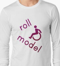Roll Model - Disability Tees - in purple Long Sleeve T-Shirt