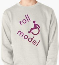 Roll Model - Disability Tees - in purple Pullover