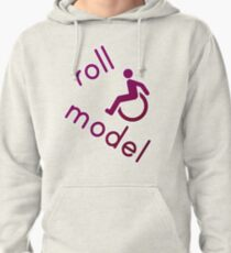 Roll Model - Disability Tees - in purple Pullover Hoodie