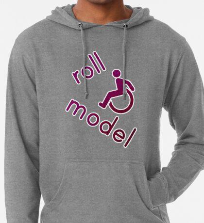 Roll Model - Disability Tees - in purple Lightweight Hoodie