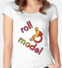 Roll Model - Disability Tees - in bright colours Women's Fitted Scoop T-Shirt