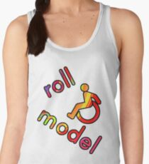 Roll Model - Disability Tees - in bright colours Women's Tank Top