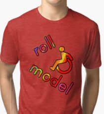 Roll Model - Disability Tees - in bright colours Tri-blend T-Shirt