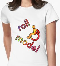 Roll Model - Disability Tees - in bright colours Women's Fitted T-Shirt