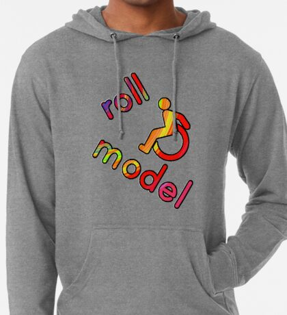 Roll Model - Disability Tees - in bright colours Lightweight Hoodie