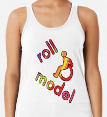 Roll Model - Disability Tees - in bright colours Racerback Tank Top