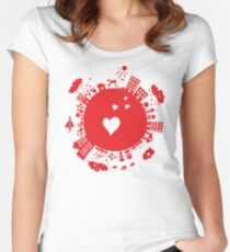planet in love Women's Fitted Scoop T-Shirt