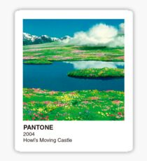 PANTONE Howl's Moving Castle Sticker