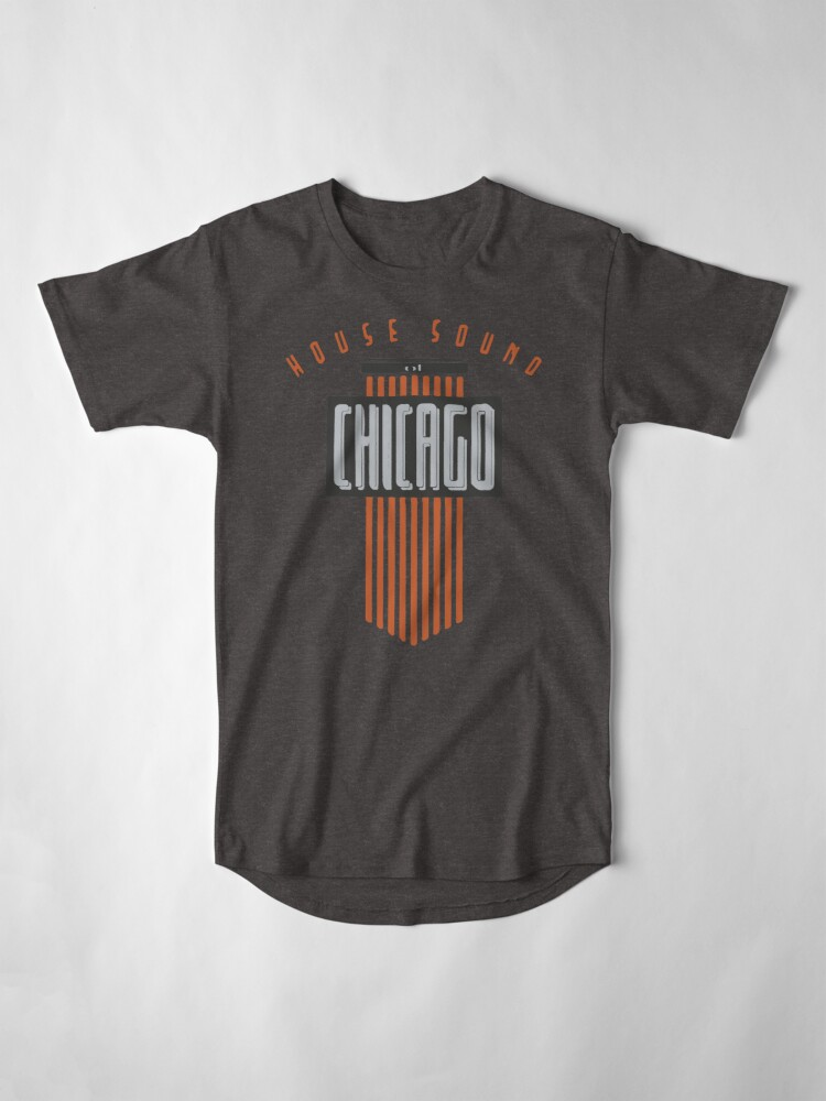 Alternate view of House Sound Of Chicago (one) Long T-Shirt