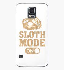 Sloth Mode, On, Faultier, Modus, Status, Chillen, Chiller, Gammeln, Entspannen, Entspannung, Relaxen, Relaxing, Müde, Müdigkeit, Schlafen, Geschenk Hülle & Klebefolie für Samsung Galaxy