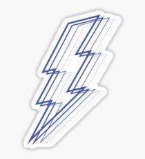 Blauer Blitz Sticker