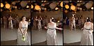 Bridal boquet toss - Tryptich by Stephen Colquitt