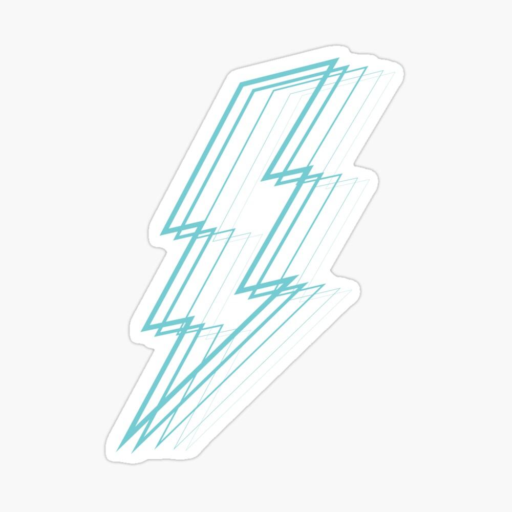 Turquoise Lightning Sticker