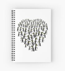 Penguins Clustered into a Heart Spiral Notebook