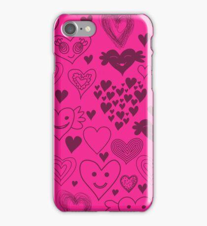 hearts card iPhone Case/Skin