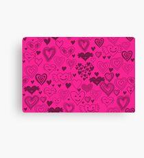 hearts card Canvas Print