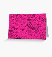 hearts card Greeting Card