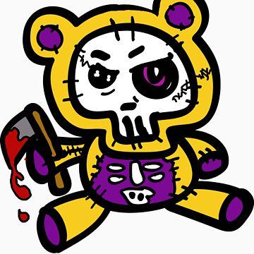 axel the bear of death by raggydolly666