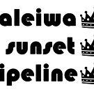 Haleiwa Sunset Pipeline by northshoresign