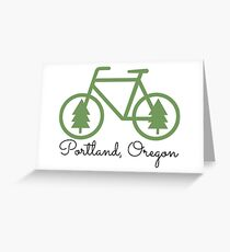 Portland - PDX - City of Trees and Bicycles Greeting Card