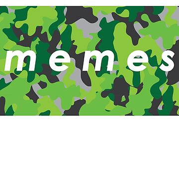 camo MEMES green by castl3t0ndesign