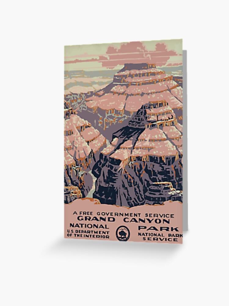 Vintage Grand Canyon Arizona Utah Travel Vacation Holiday Advertisement Art Poster Greeting Card