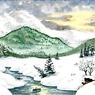 A winter landscape by MadameCat-Art