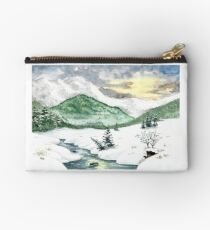 A winter landscape Zipper Pouch