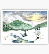 A winter landscape Sticker