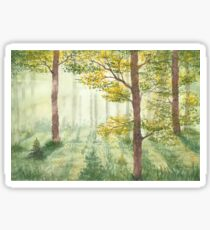 Between the trees. Sticker