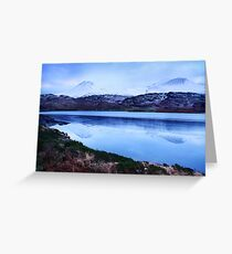 snowy mountains-Kerry Greeting Card
